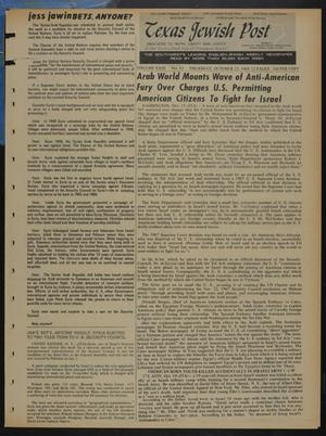 Primary view of object titled 'Texas Jewish Post (Fort Worth, Tex.), Vol. 23, No. 43, Ed. 1 Thursday, October 23, 1969'.