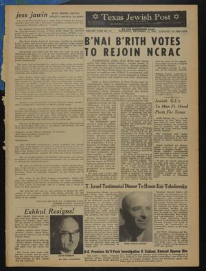 Primary view of object titled 'Texas Jewish Post (Fort Worth, Tex.), Vol. 18, No. 51, Ed. 1 Thursday, December 17, 1964'.