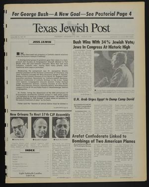 Primary view of object titled 'Texas Jewish Post (Fort Worth, Tex.), Vol. 42, No. 45, Ed. 1 Thursday, November 10, 1988'.