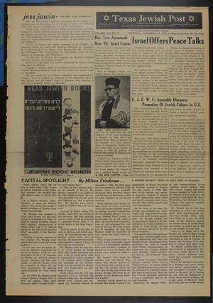 Primary view of object titled 'Texas Jewish Post (Fort Worth, Tex.), Vol. 13, No. 47, Ed. 1 Thursday, November 19, 1959'.
