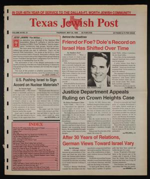 Primary view of object titled 'Texas Jewish Post (Fort Worth, Tex.), Vol. 49, No. 21, Ed. 1 Thursday, May 25, 1995'.