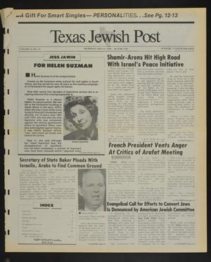 Primary view of object titled 'Texas Jewish Post (Fort Worth, Tex.), Vol. 43, No. 21, Ed. 1 Thursday, May 25, 1989'.