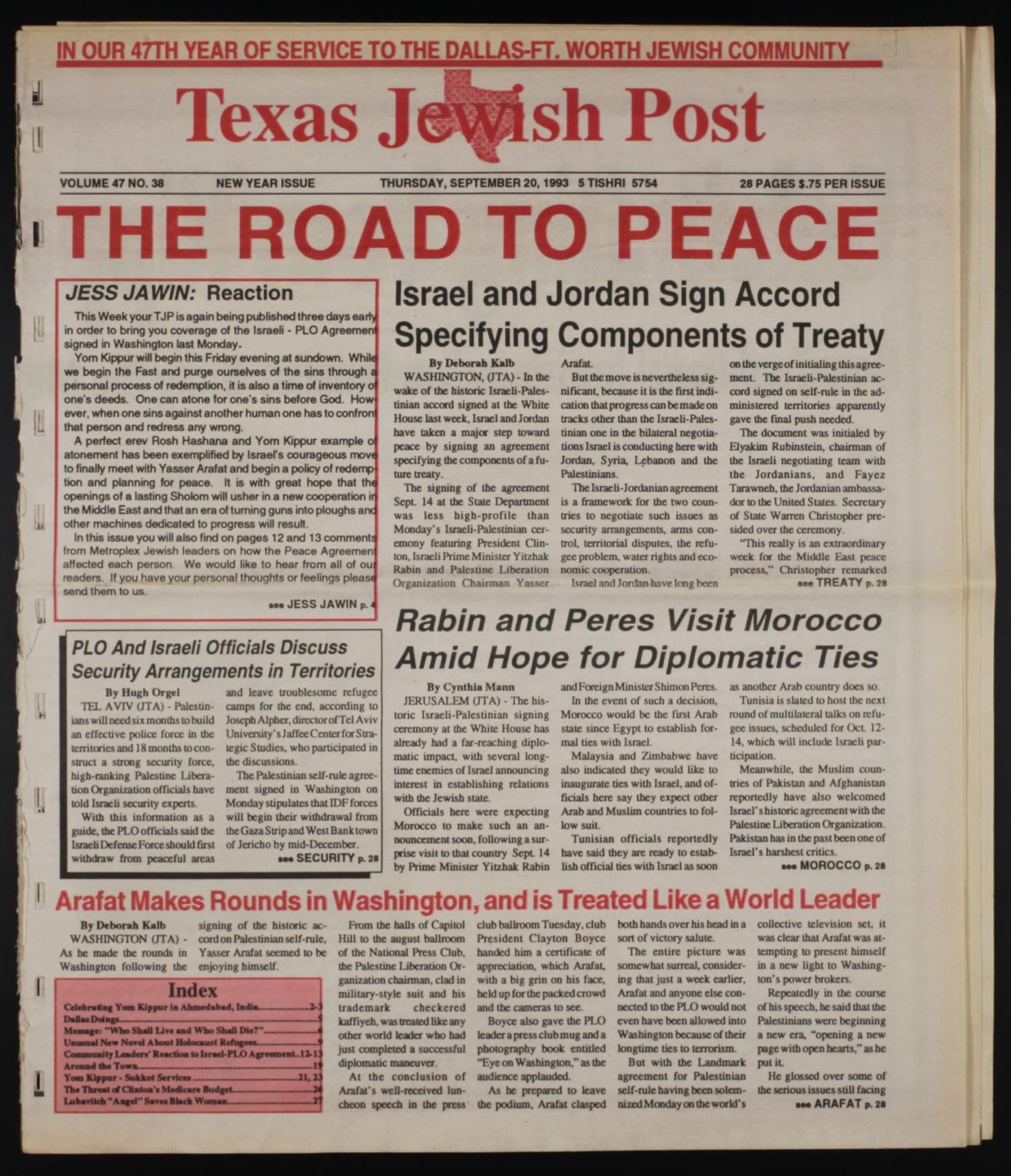 an introduction to the history of israel plo peace treaty The camp david accords was a peace treaty signed september history: the 1948 arab-israeli war erupted in 1948 when israel proclaimed its (plo), professing.