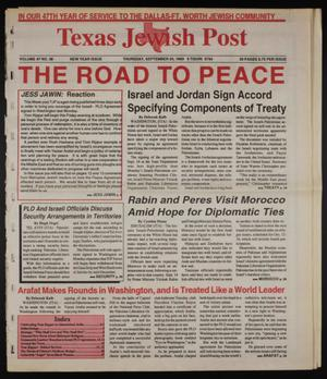 Primary view of object titled 'Texas Jewish Post (Fort Worth, Tex.), Vol. 47, No. 38, Ed. 1 Monday, September 20, 1993'.