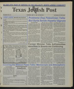 Primary view of object titled 'Texas Jewish Post (Fort Worth, Tex.), Vol. 47, No. 19, Ed. 1 Thursday, May 13, 1993'.