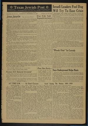 Primary view of object titled 'Texas Jewish Post (Fort Worth, Tex.), Vol. 12, No. 52, Ed. 1 Thursday, December 25, 1958'.