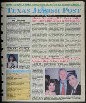 Primary view of object titled 'Texas Jewish Post (Fort Worth, Tex.), Vol. 54, No. 25, Ed. 1 Thursday, June 22, 2000'.