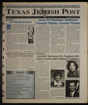 Primary view of object titled 'Texas Jewish Post (Fort Worth, Tex.), Vol. 53, No. 12, Ed. 1 Thursday, March 25, 1999'.