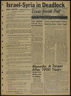 Primary view of object titled 'Texas Jewish Post (Fort Worth, Tex.), Vol. 20, No. 45, Ed. 1 Thursday, November 10, 1966'.