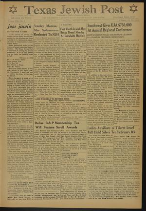 Primary view of object titled 'Texas Jewish Post (Fort Worth, Tex.), Vol. 8, No. 5, Ed. 1 Thursday, February 4, 1954'.