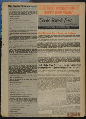 Primary view of object titled 'Texas Jewish Post (Fort Worth, Tex.), Vol. 25, No. 37, Ed. 1 Thursday, September 16, 1971'.