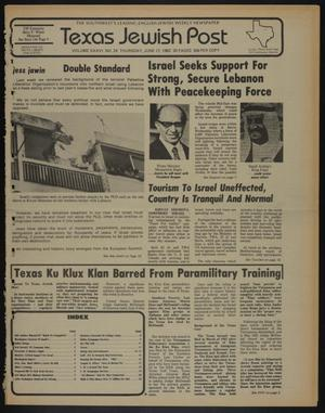 Primary view of object titled 'Texas Jewish Post (Fort Worth, Tex.), Vol. 36, No. 24, Ed. 1 Thursday, June 17, 1982'.