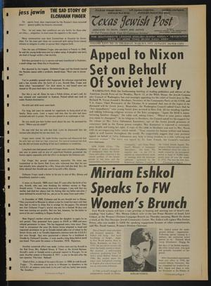 Primary view of object titled 'Texas Jewish Post (Fort Worth, Tex.), Vol. 26, No. 10, Ed. 1 Thursday, March 9, 1972'.