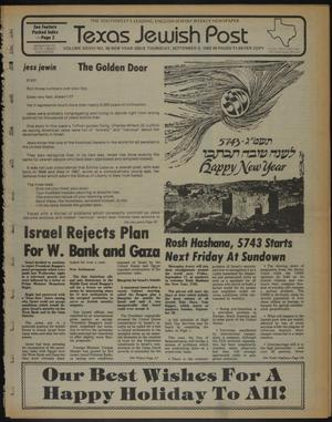 Primary view of object titled 'Texas Jewish Post (Fort Worth, Tex.), Vol. 36, No. 36, Ed. 1 Thursday, September 9, 1982'.