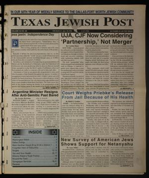Primary view of object titled 'Texas Jewish Post (Fort Worth, Tex.), Vol. 50, No. 29, Ed. 1 Thursday, July 18, 1996'.