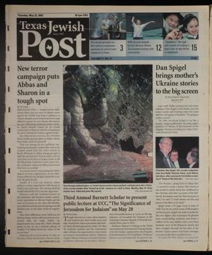 Primary view of object titled 'Texas Jewish Post (Fort Worth, Tex.), Vol. 57, No. 21, Ed. 1 Thursday, May 22, 2003'.