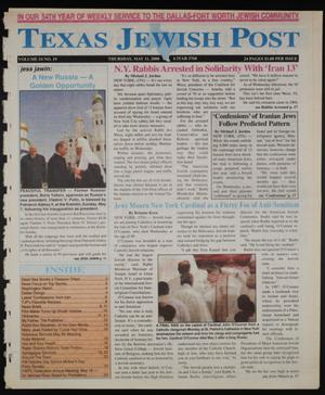 Primary view of object titled 'Texas Jewish Post (Fort Worth, Tex.), Vol. 54, No. 19, Ed. 1 Thursday, May 11, 2000'.