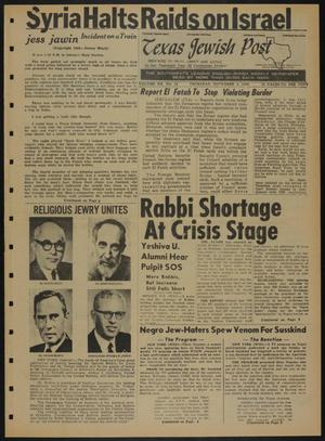 Primary view of object titled 'Texas Jewish Post (Fort Worth, Tex.), Vol. 20, No. 44, Ed. 1 Thursday, November 3, 1966'.