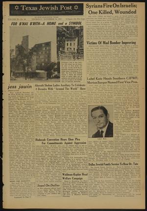 Primary view of Texas Jewish Post (Fort Worth, Tex.), Vol. 11, No. 46, Ed. 1 Thursday, November 14, 1957