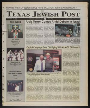 Primary view of object titled 'Texas Jewish Post (Fort Worth, Tex.), Vol. 56, No. 29, Ed. 1 Thursday, July 18, 2002'.