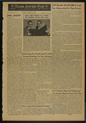 Primary view of object titled 'Texas Jewish Post (Fort Worth, Tex.), Vol. 11, No. 24, Ed. 1 Thursday, June 13, 1957'.