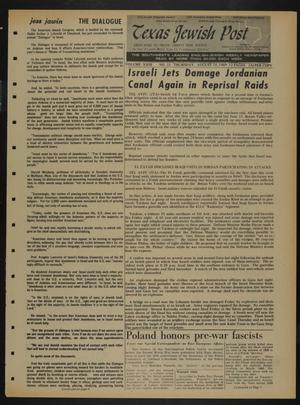 Primary view of object titled 'Texas Jewish Post (Fort Worth, Tex.), Vol. 23, No. 33, Ed. 1 Thursday, August 14, 1969'.