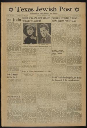 Primary view of object titled 'Texas Jewish Post (Fort Worth, Tex.), Vol. 4, No. 1, Ed. 1 Thursday, January 5, 1950'.