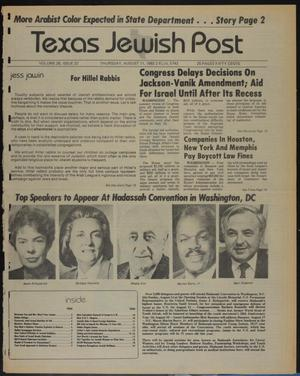 Primary view of object titled 'Texas Jewish Post (Fort Worth, Tex.), Vol. 38, No. 32, Ed. 1 Thursday, August 11, 1983'.