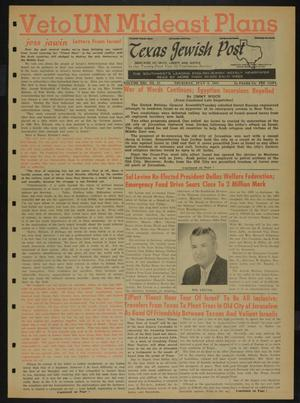 Primary view of object titled 'Texas Jewish Post (Fort Worth, Tex.), Vol. 21, No. 27, Ed. 1 Thursday, July 6, 1967'.