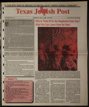 Primary view of object titled 'Texas Jewish Post (Fort Worth, Tex.), Vol. 48, No. 28, Ed. 1 Thursday, July 14, 1994'.
