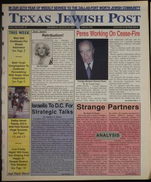 Primary view of object titled 'Texas Jewish Post (Fort Worth, Tex.), Vol. 55, No. 34, Ed. 1 Thursday, August 23, 2001'.