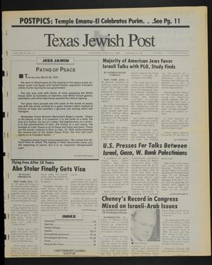 Primary view of object titled 'Texas Jewish Post (Fort Worth, Tex.), Vol. 43, No. 12, Ed. 1 Thursday, March 23, 1989'.