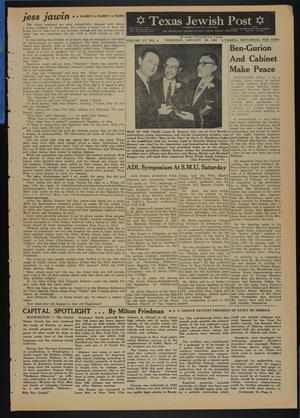 Primary view of object titled 'Texas Jewish Post (Fort Worth, Tex.), Vol. 15, No. 4, Ed. 1 Thursday, January 26, 1961'.