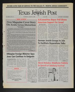 Primary view of object titled 'Texas Jewish Post (Fort Worth, Tex.), Vol. 45, No. 31, Ed. 1 Thursday, August 2, 1990'.