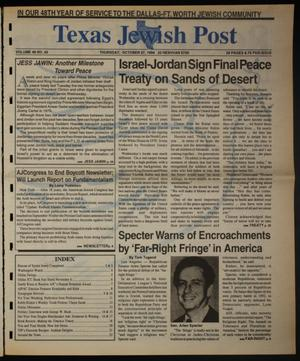 Primary view of object titled 'Texas Jewish Post (Fort Worth, Tex.), Vol. 48, No. 43, Ed. 1 Thursday, October 27, 1994'.