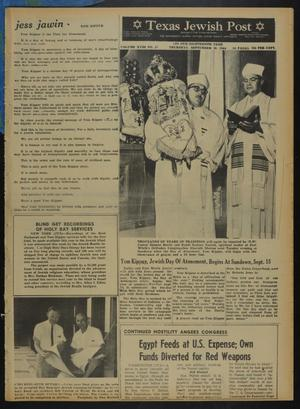 Primary view of object titled 'Texas Jewish Post (Fort Worth, Tex.), Vol. 18, No. 37, Ed. 1 Thursday, September 10, 1964'.