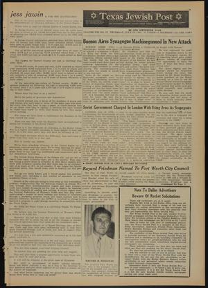 Primary view of object titled 'Texas Jewish Post (Fort Worth, Tex.), Vol. 16, No. 29, Ed. 1 Thursday, July 19, 1962'.