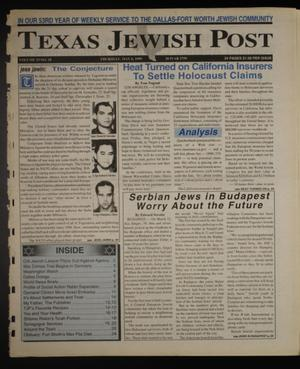 Primary view of object titled 'Texas Jewish Post (Fort Worth, Tex.), Vol. 53, No. 18, Ed. 1 Thursday, May 6, 1999'.