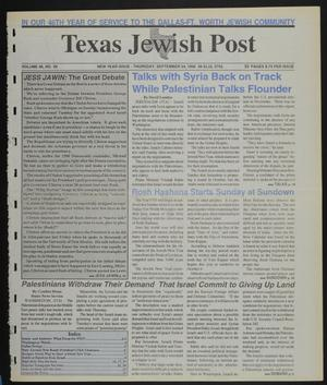 Primary view of object titled 'Texas Jewish Post (Fort Worth, Tex.), Vol. 46, No. 39, Ed. 1 Thursday, September 24, 1992'.