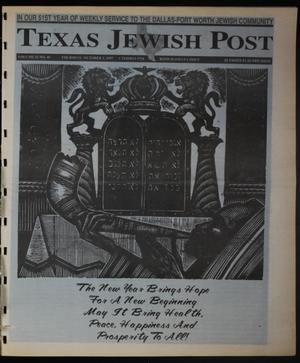 Primary view of object titled 'Texas Jewish Post (Fort Worth, Tex.), Vol. 51, No. 40, Ed. 1 Thursday, October 2, 1997'.
