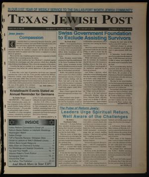 Primary view of object titled 'Texas Jewish Post (Fort Worth, Tex.), Vol. 51, No. 45, Ed. 1 Thursday, November 6, 1997'.