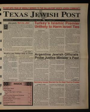 Primary view of object titled 'Texas Jewish Post (Fort Worth, Tex.), Vol. 50, No. 27, Ed. 1 Thursday, July 4, 1996'.