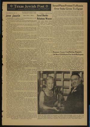 Primary view of object titled 'Texas Jewish Post (Fort Worth, Tex.), Vol. 11, No. 27, Ed. 1 Thursday, July 4, 1957'.