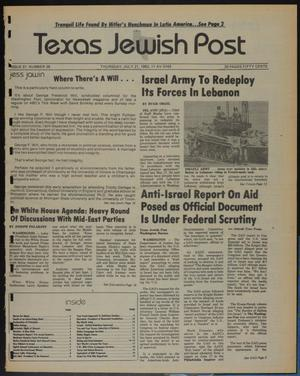 Primary view of object titled 'Texas Jewish Post (Fort Worth, Tex.), Vol. 37, No. 29, Ed. 1 Thursday, July 21, 1983'.