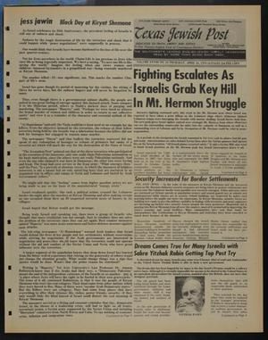 Primary view of object titled 'Texas Jewish Post (Fort Worth, Tex.), Vol. 28, No. 16, Ed. 1 Thursday, April 25, 1974'.