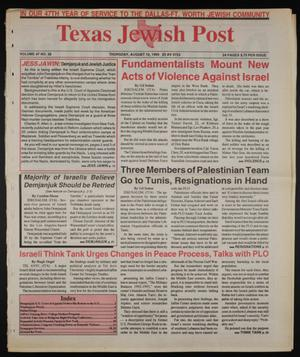 Primary view of object titled 'Texas Jewish Post (Fort Worth, Tex.), Vol. 47, No. 32, Ed. 1 Thursday, August 12, 1993'.