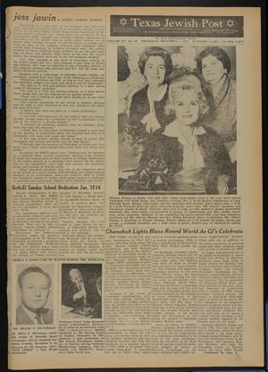 Primary view of object titled 'Texas Jewish Post (Fort Worth, Tex.), Vol. 15, No. 49, Ed. 1 Thursday, December 7, 1961'.