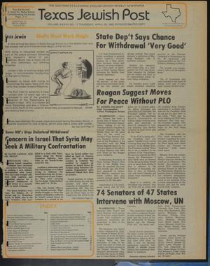 Primary view of object titled 'Texas Jewish Post (Fort Worth, Tex.), Vol. 37, No. 17, Ed. 1 Thursday, April 28, 1983'.