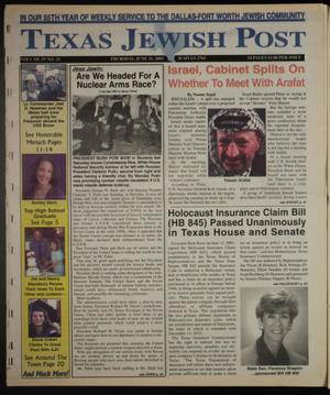 Primary view of object titled 'Texas Jewish Post (Fort Worth, Tex.), Vol. 55, No. 25, Ed. 1 Thursday, June 21, 2001'.