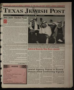 Primary view of object titled 'Texas Jewish Post (Fort Worth, Tex.), Vol. 50, No. 22, Ed. 1 Thursday, May 30, 1996'.